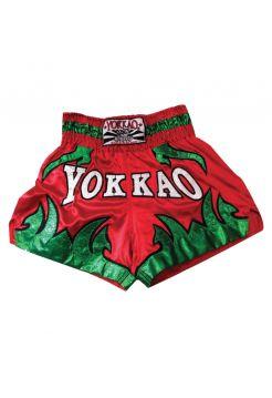 Шорты для тайского бокса Yokkao BORN TO FIGHT красные