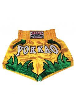 Шорты для тайского бокса Yokkao Born To Fight желтые