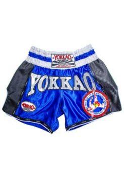 Шорты для тайского бокса Yokkao Carbon Saenchai синие