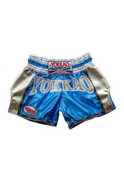 Шорты для тайского бокса Yokkao Carbon Storm голубые
