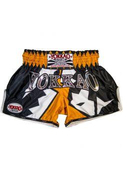 Шорты для тайского бокса Yokkao CarbonFit Frost оранжевые