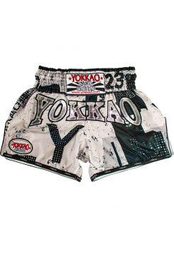 Шорты для тайского бокса Yokkao CarbonFit Urban белые