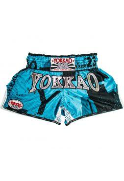 Шорты для тайского бокса Yokkao CarbonFit Urban синие