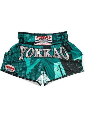 Шорты для тайского бокса Yokkao CarbonFit Urban зеленые