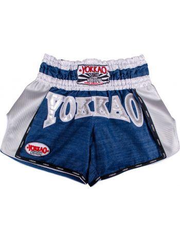 Шорты для тайского бокса Yokkao Denim Carbon белые