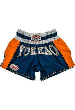 Шорты для тайского бокса Yokkao Denim Carbon оранжевые