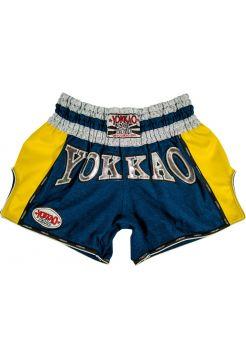 Шорты для тайского бокса Yokkao Denim Carbon желтые