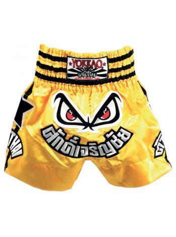 Шорты для тайского бокса Yokkao Lumpinee Stars желтые