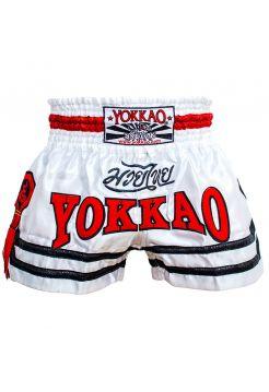 Шорты для тайского бокса Yokkao Lumpinee White Mongkol