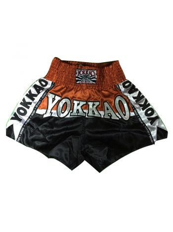 Шорты для тайского бокса Yokkao Omnoi черные