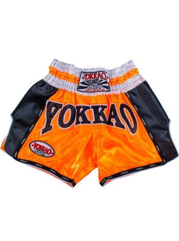 Шорты для тайского бокса Yokkao Carbon оранжевые