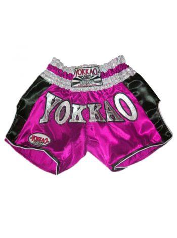 Шорты для тайского бокса Yokkao Carbon розовые