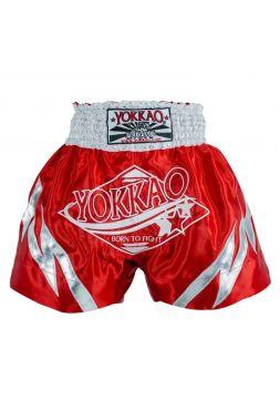 Шорты для тайского бокса Yokkao Rapids красные
