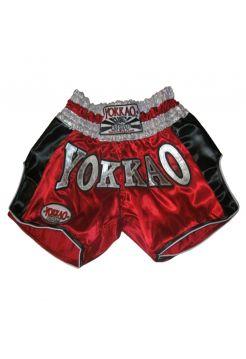 Шорты для тайского бокса Yokkao Carbon красные
