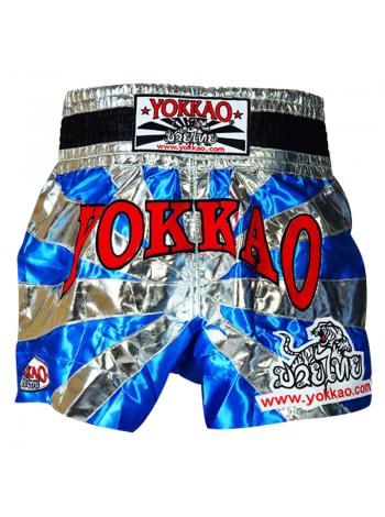Шорты для тайского бокса Yokkao Saenchai голубые