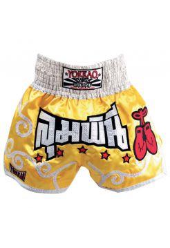 Шорты для тайского бокса Yokkao Muay Thai Stars желтые
