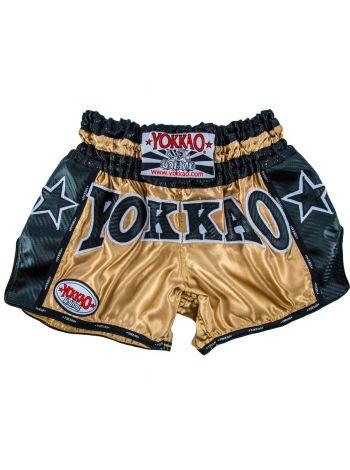 Шорты для тайского бокса Yokkao Vintage Carbon черные