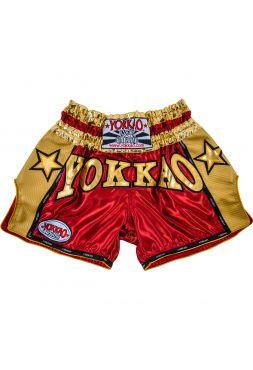 Шорты для тайского бокса Yokkao Vintage Carbon красные