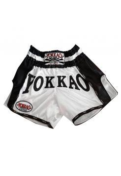 Шорты для тайского бокса Yokkao Carbon белые