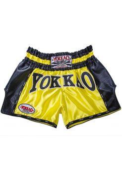 Шорты для тайского бокса Yokkao Carbon желтые