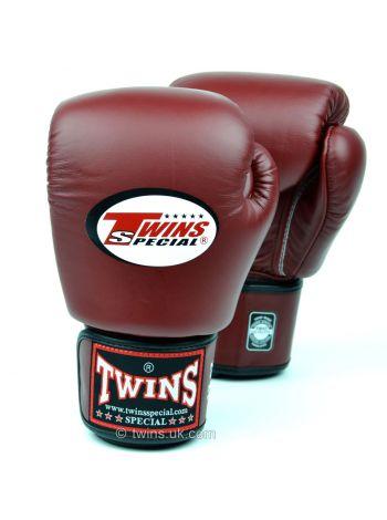 Боксерские перчатки TWINS BGVL3 темно-бордовые