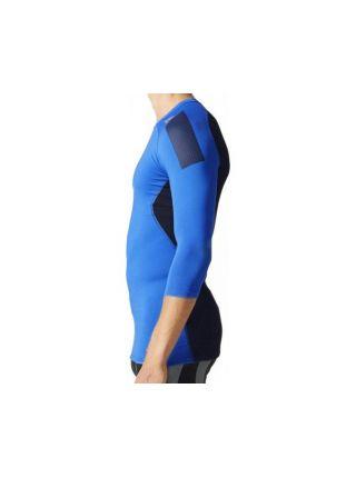 Рашгард с длинным рукавом Adidas Techfit Cool 3/4 Sleeve сине-черный