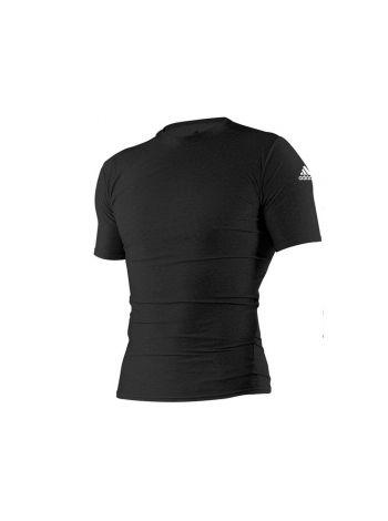 Рашгард с коротким рукавом Adidas Rush Guard Short Sleeve черный