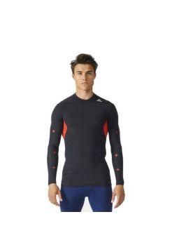 Рашгард с длинным рукавом Adidas Techfit Recovery Shirt черно-красный