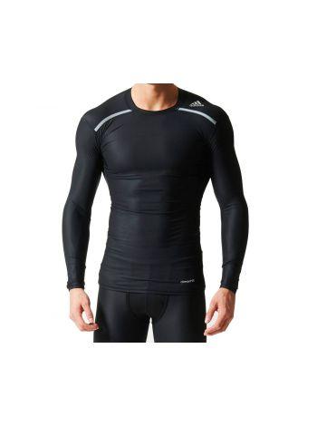 Рашгард с длинным рукавом Adidas Techfit Climachill Long Sleeve черный