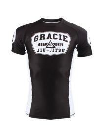 Рашгард с коротким рукавом черно-белый Gracie Jiu-Jitsu Gracie Rashguar