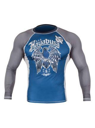 Рашгард с длинным рукавом Hayabusa Showdown сине-серый