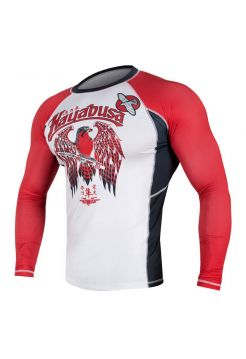 Рашгард с длинным рукавом Hayabusa Showdown бело-красный