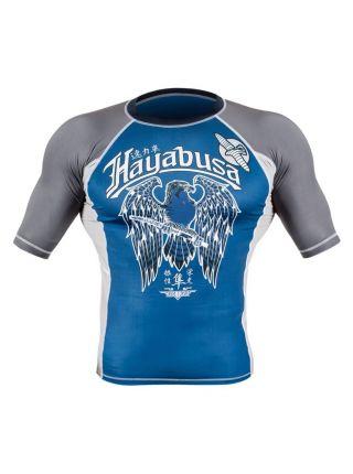 Рашгард с коротким рукавом Hayabusa Showdown сине-серый