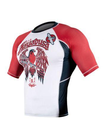 Рашгард с коротким рукавом Hayabusa Showdown бело-красный