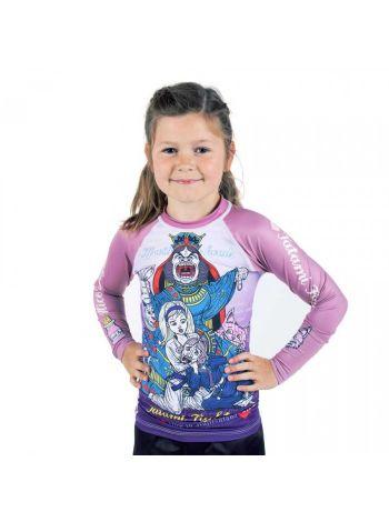 Рашгард детский с длинным рукавом Tatami Meerkatsu Alice in Jiu-Jitsu Land розовый