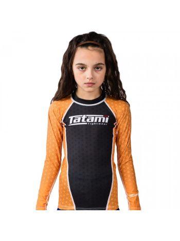 Рашгард детский с длинным рукавом Tatami IBJJF оранжевый