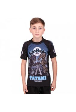 Рашгард детский с коротким рукавом Tatami Sao Paulo черный