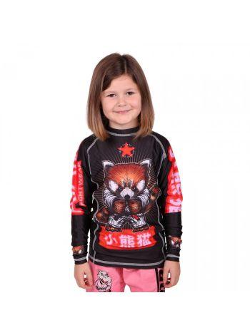 Рашгард детский с длинным рукавом Tatami Meerkatsu Red Panda черный