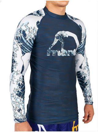 Рашгард с длинным рукавом MANTO WAVES синий