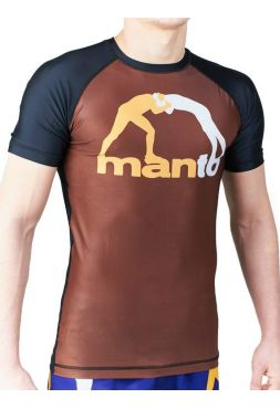 Рашгард с коротким рукавом MANTO CLASSIC коричневый