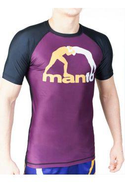 Рашгард с коротким рукавом MANTO CLASSIC фиолетовый