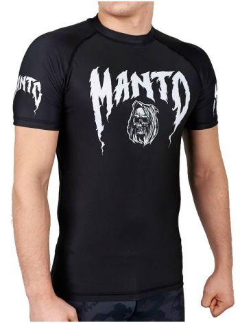 Рашгард с коротким рукавом MANTO GRIM черный