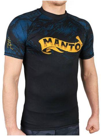 Рашгард с коротким рукавом MANTO PERFECT STORM черный