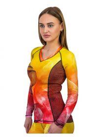 Женский рашгард с длинным рукавом Orso Classic FireFox желтый