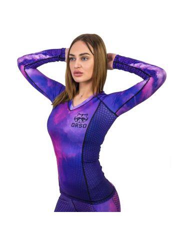 Женский рашгард с длинным рукавом Orso Classic Gojira фиолетовый