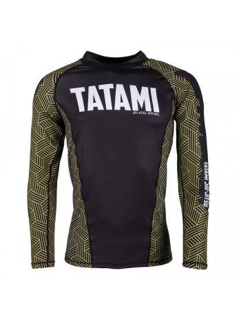 Рашгард с длинным рукавом Tatami Weave - Yellow Kanji