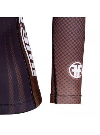 Рашгард с длинным рукавом Tatami New IBJJF Rank Long Sleeve Brown