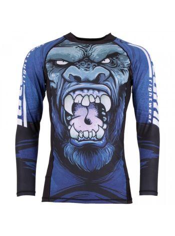 Рашгард c длинным рукавом Gorilla Smash синий