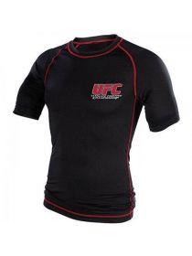 Рашгард с коротким рукавом черный UFC Cllassic