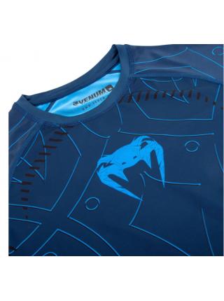 Рашгард с коротким рукавом VENUM NIGHTCRAWLER синий